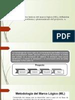 Elementos básicos del marco lógico (ML),