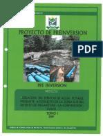 Perfil del proyecto creación de servicio de agua potable - Megantoni