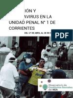 REPRESIÓN Y CORONAVIRUS EN LA UP1 DE CORRIENTES. Del 17-3 al 18-6 de 2020