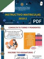 Instructivo Matriculas 2020-2 Secretarías de División
