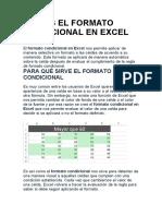 QUÉ ES EL FORMATO CONDICIONAL EN EXCEL 2013