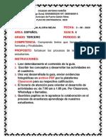 4.   PLAN DE CONTINGENCIA ESPAÑOL 3 PERIODO