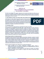 Ficha Práctica 10. Acompañar el desarrollo de la autonomía de las niñas y los niños