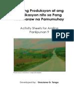 Salik Ng Produksiyon at Implikasyon Nito Sa Pang Araw-Araw Na Pamumuhay
