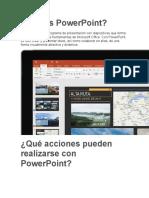 Qué es PowerPoint