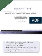 Initiation au Web et à l'html
