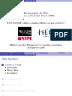 Technologies du Web. Introduction au World Wide Web et à HTML. Mastère spécialisé Management et nouvelles technologies, 28 septembre 2009