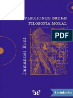 Reflexiones sobre filosofia moral - Immanuel Kant