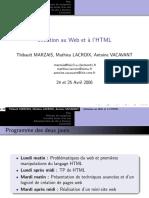 Initiation au Web et à l HTML