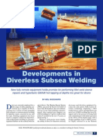 Developments in Diverless Subsea Welding