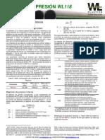 WL118 0117 Pressure Rating_ES.pdf
