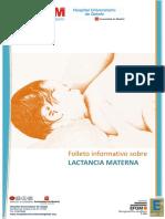 Folleto informativo lactancia materna