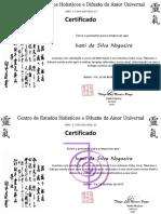 Certificados Reiki Ivani