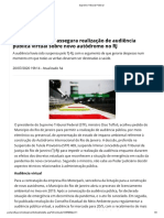 Presidente do STF assegura realização de audiência pública virtual sobre novo autódromo no RJ