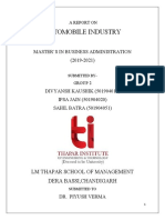Report on Automobile Industry