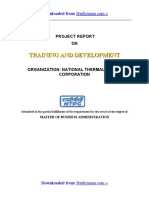 NTPC Training & Development - MBA HR Summer Training Project Report PDF Download