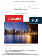 Emirates _Repatriation Flights from India to Dubai _Update 310720
