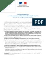 Notice d'information Conjoint de Français