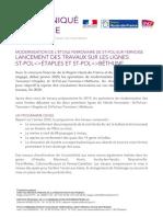 Modernisation de l'Etoile ferroviaire de St-Pol-sur-Ternoise - Lancement des travaux