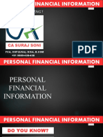 Personal Financial Information