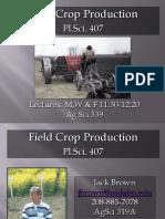 Field Crop Production