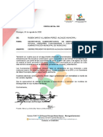 Comunicado Alcaldía de Rionegro - Santander