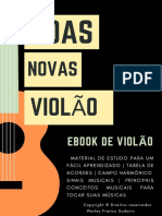 E-Book Violão Boas Novas Tabelas de Acordes, Campo Harmônico e Textos