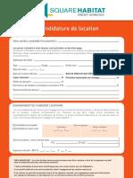 Dossier candidature interactif pour location