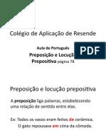 Preposição  e locução prepositiva p78.pptx