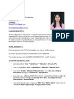 RESUME SHREYA BHARDWAJ