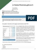 FAVOR Ecuador crecerá 2.2% según previsiones del FMI – Ministerio de Economía y Finanzas.pdf