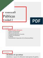 Unidad 2 Finanzas Públicas