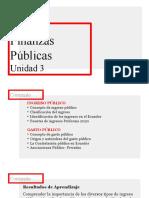 Unidad 3 Finanzas Públicas