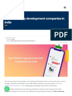 Dxminds Com Top Mobile App Development Companies in India