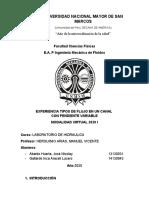 LABORATORIO N3 de hidraulica