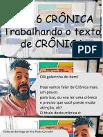 ATV16 TRABALHANDO O TEXTO DE CRÔNICA