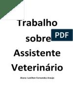 Atribuições do Auxiliar de Veterinária