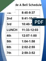 bell schedule 2020-2021