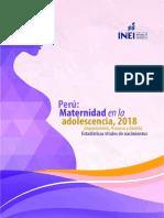 INEI Perú Maternidad en Adolescencia