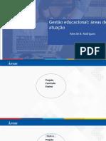 Gestão participativa escolar e áreas de atuação