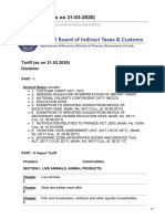 201920 Indian Customs Tariff as on 31-3-2020 All Included Compendium