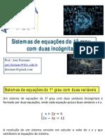 Aula 7 - Sistemas de equações do 1o grau (1)