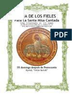 IX Domingo Después de Pentecostes. Guía de los fieles para la santa misa cantada. Kyrial Orbis Factor