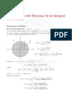 Aplicacion del teorema de la integral de Cauchy