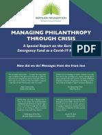 Managing Philanthropy - BCF Covid Special Report 2020