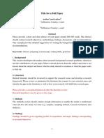Guide of Full Paper
