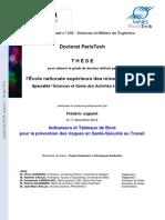 Thèse doctorale_ Indicateurs et Tableaux de Bord en matière de gestion de la sécurité au travail