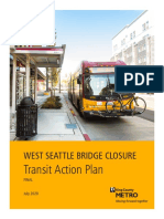 Metro West Seattle Bridge Action Plan