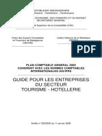ARRETE 025-2005 PCG 2005 GUIDE SECTORIEL TOURISME-HOTELLERIE