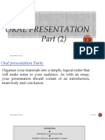 Topic 8 Oral Presentation Part 2